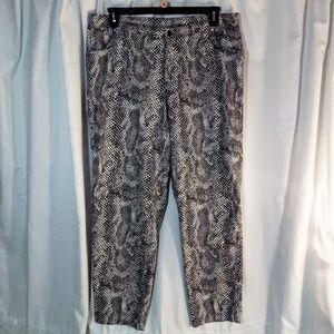 Dana Buchman Woman 18 Python Snakeskin Print Pants